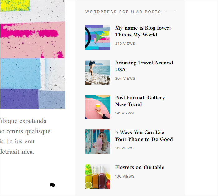 Start blogging with Blover WP theme - right widget area