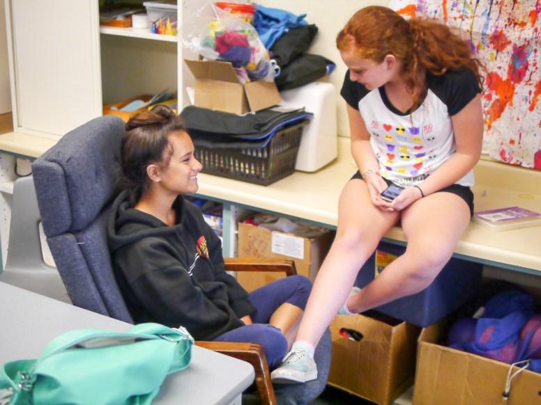 Making friends at the Live Oak Teen Center