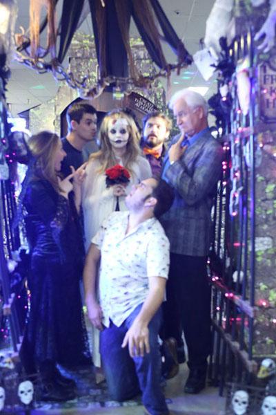 halloween store zombie wedding bride
