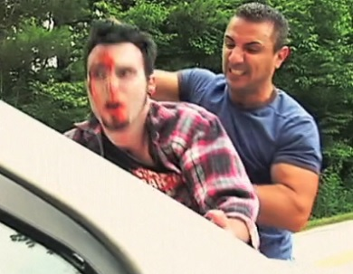 zombie invasion hunk smash face