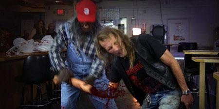 bubba the red neck werewolf arm rip