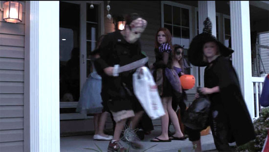 haunted maze trick or treaters