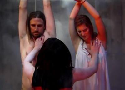 blood moon rising in couple sacrifice