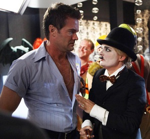 "RAISING HOPE: Burt (Garret Dillahunt, L) and Virginia (Martha Plimpton, R) dress up for Halloween in the all-new ""Don't Ask, Don't Tell Me What To Do"" episode of RAISING HOPE airing Tuesday, Oct. 30 (8:00-8:30 PM ET/PT) on FOX. ©2012 Fox Broadcasting Co. CR: Patrick Wymore/FOX"