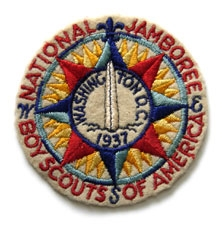 1937 National Jamboree Original Pocket Patch