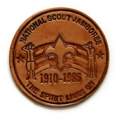 1985 National Jamboree Leather Pouch