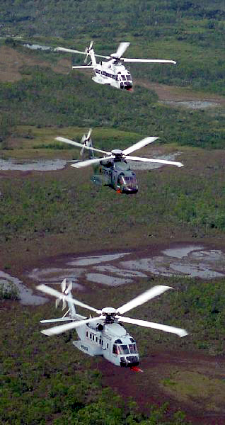 H-92 and S-92 helicopter formation