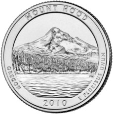 America the Beautiful quarters - Mount Hood National Forest