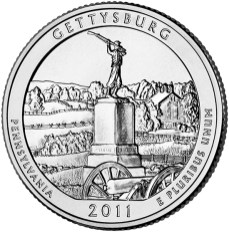 America the Beautiful quarters - Gettysburg National Military Park