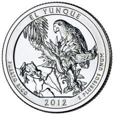 America the Beautiful quarters - El Yunque National Forest