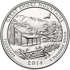 America the Beautiful quarters - Great Smoky Mountains National Park