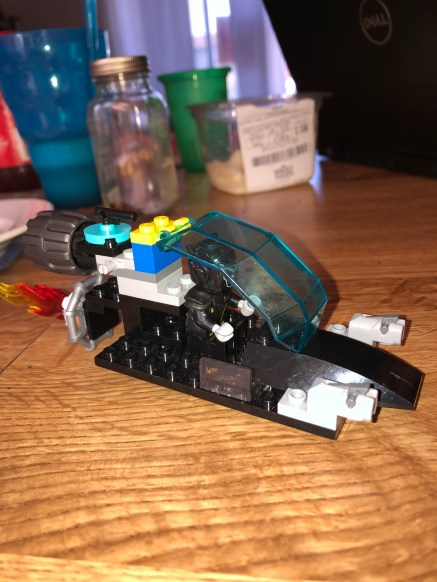 It's the galactic bounty hunter space ship from LEGO masters .