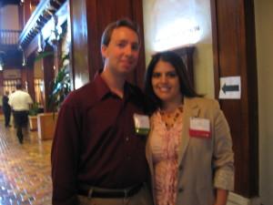 Jonathan Taylor and Project Coordinator Sarah Rodriguez