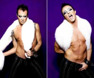 Paulo Vilhena posa para revista gay como travesti