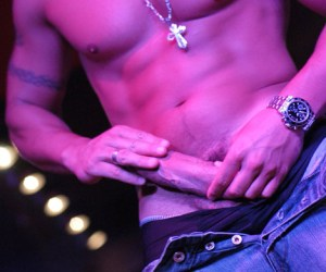 Striptease | Gogoboy tira tudo e mostra o caralhão grosso na boate