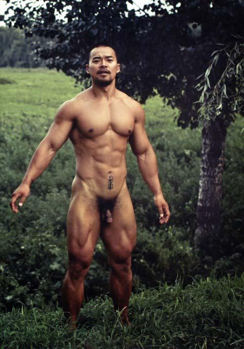 hot men asian naked super muscle