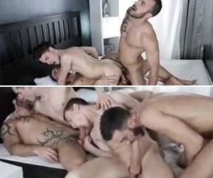 4 putos na orgia gay sem camisinha - DP