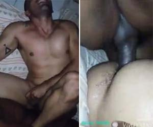 Negão dilatando cu do boy bêbado sem camisinha