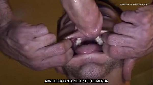 abre essa boca seu puto de merda sexo gay hardcore