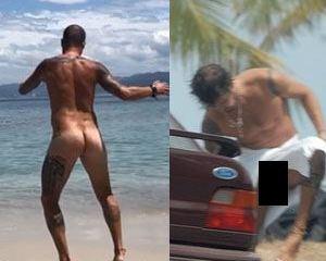 Paulinho Vilhena fica completamente nu em praia na Espanha