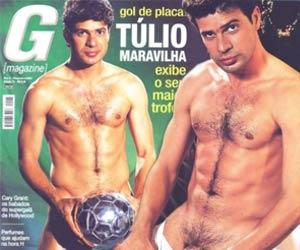 Jogador Túlio Maravilha pelado em 2003 G Magazine