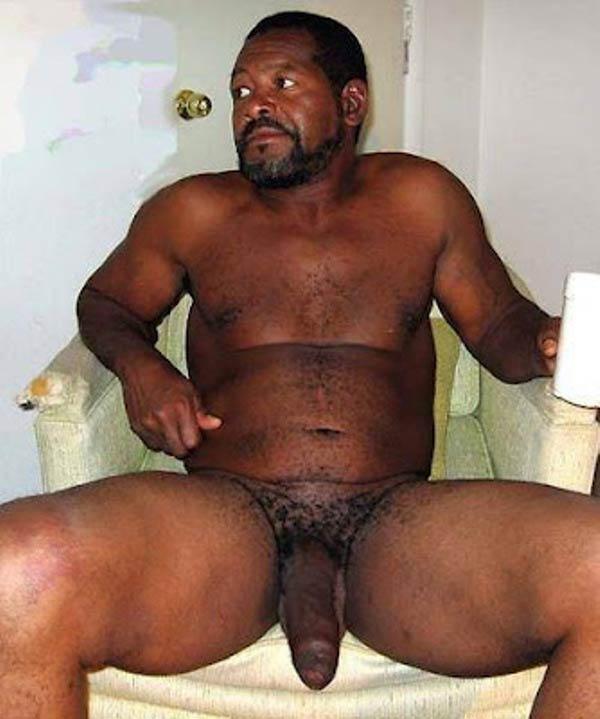Negros Dotados: macho natural gordo e bem dotado