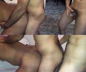 Moreno bundudo chama corno e amante para foder juntos