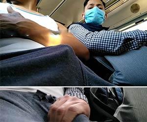 Pegou no pau duro do desconhecido no metrô