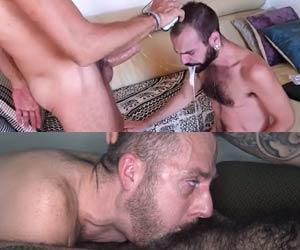 Esfolou a goela do puto até vomitar esperma