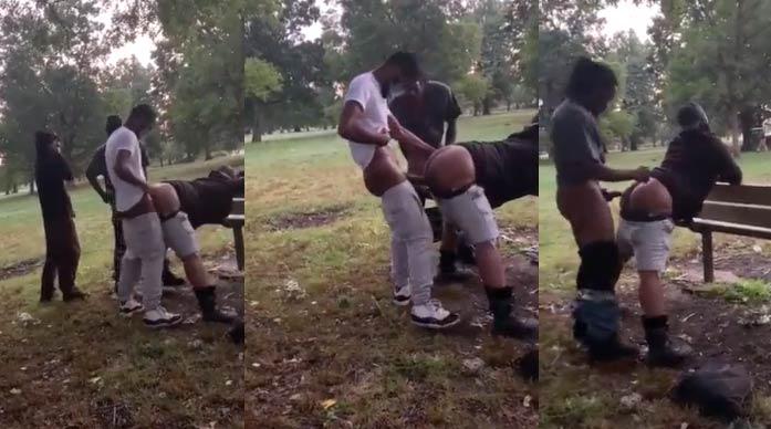homens preto transando parque gay ao vivo