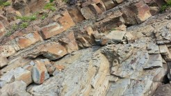Layers of shale and sandstone.