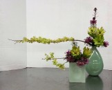 My Easter arrangement for Ikebana. So pleased with it! Chartreuse from Leucadendron 'Safari Goldstrike' and hopseed, countered with the dark pink-purple of the isopogon.