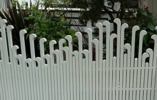 An interesting spin on the classic picket fence.