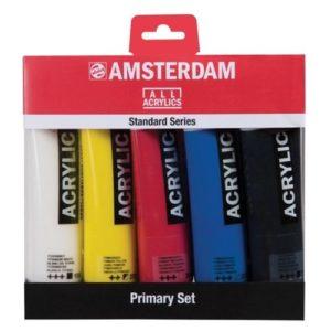 Set Primaire Acrylique Amsterdam 5 tubes 120 ml