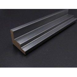 Cadre Caisse américaine argent métallisé escalier 45 x 35 mm