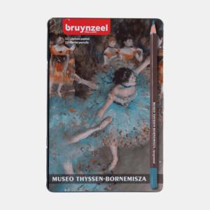 "Bruynzeel Coffret métal ""Degas"" 12 crayons de pastel"