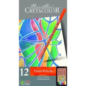 Crétacolor Set de 12 crayons Fine Art Pastel.
