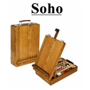 Chevalet de table Soho Grand format . Boîte en orme huilé 44x33x11 cm