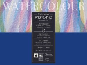 Fabriano Watercolor 200grs. Bloc 20 feuilles grain fin