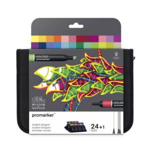 Promarker Winsor et Newton Trousse de 24 gamme étudiant