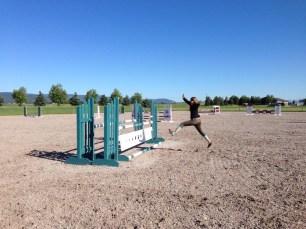 chrissy jumping