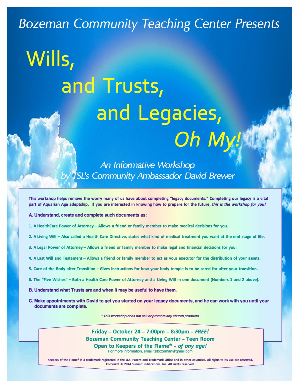NEW Wills, and Trusts, and Legacies, Oh My!