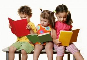 Three Kids Reading