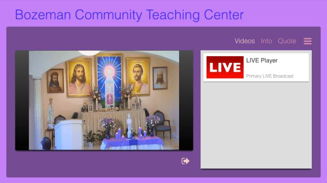 Altar on Sunday Stream