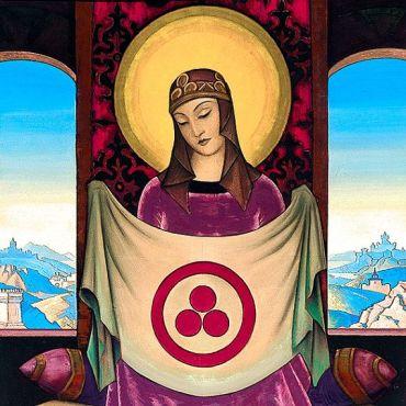 Madonna Oriflamma by Nicholas Roerich