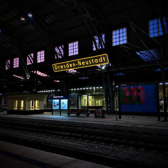 Dresden Neustadt am Morgen