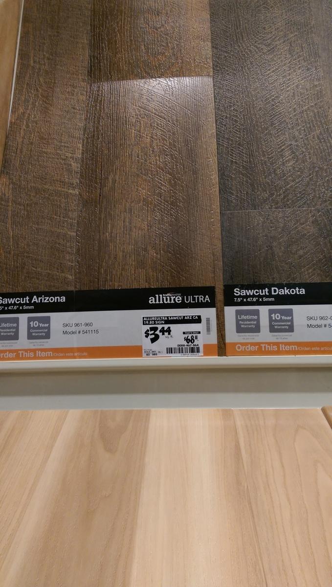allure vs lowe s versions vs laminate