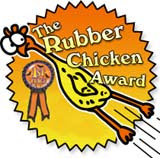 rubber chicken award