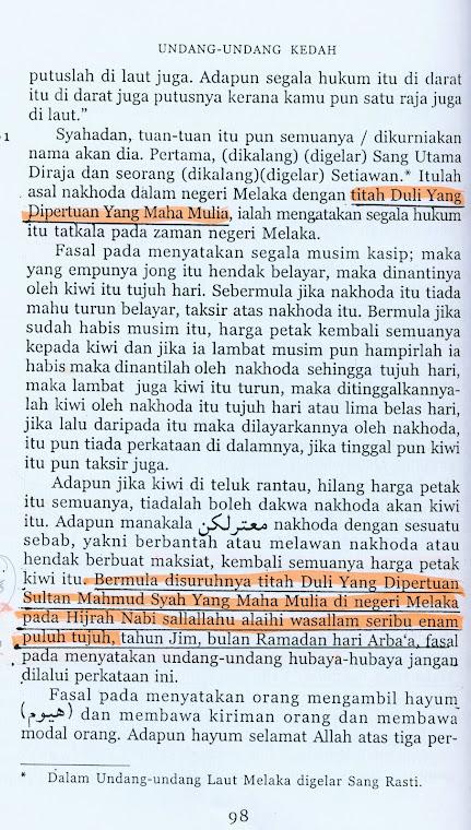 Undang-Undang Kedah ,ms98