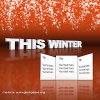 gtemplates.org free photoshop templates, design, winter, 3d mode, editable